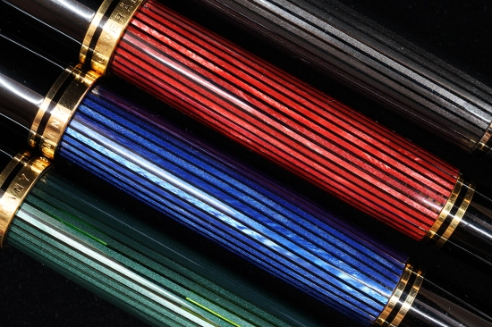 Pelikan M800 bindes; Green, Blue, Red, Anthracite