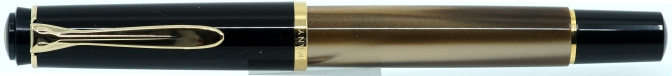 Pelikan M200 Brown Marbled Fountain Pen Capped
