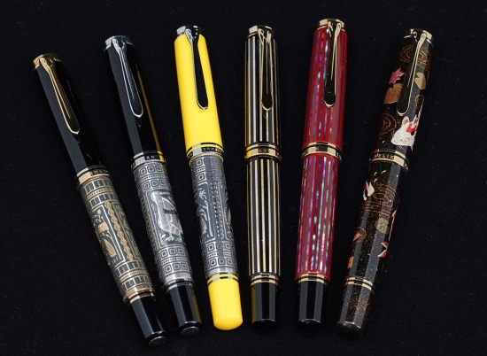 Pelikan Toledo, Raden, and Maki-e fountain pens