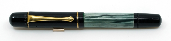 Pelikan 100N Green Marbled Fountain Pen made in Pelikan's Danzig plant
