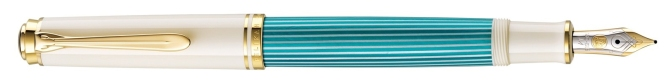 Pelikan M600 Turquoise-White Fountain Pen