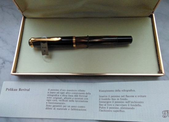 Pelikan M400 Tortoiseshell Brown as part of the Italian Revival line