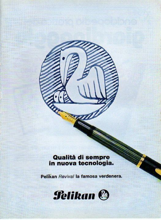 1984 Italian Magazine Advertisement for Pelikan Revival