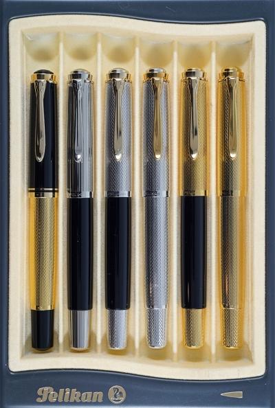Pelikan #660 Mitsukoshi, M730, M730 Silver Prototype, M750, M730 Gold Prototype, M760