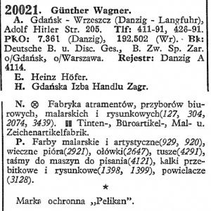 Pelikan's Danzig-Lanfuhr Factory