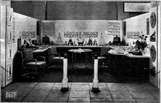 Gunther Wagner's booth at the Posnań International Fair