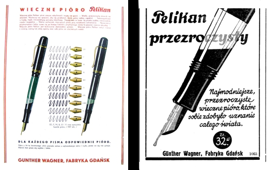 Polish advertising for Pelikan 100N