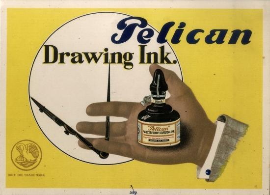 Pelican Drawing Ink Advertisement (Pelikan)