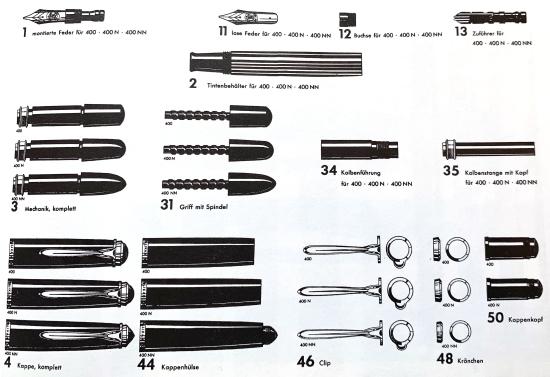 Pelikan 400 component parts