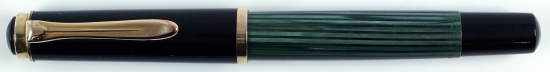 Pelikan Green/Black striped 400