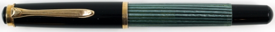 Pelikan Green/Black striped 400N