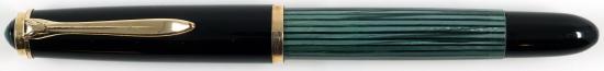 Pelikan Green/Black striped 400NN