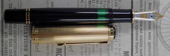 Pelikan's Black M1050 Vermeil Souverän fountain pen