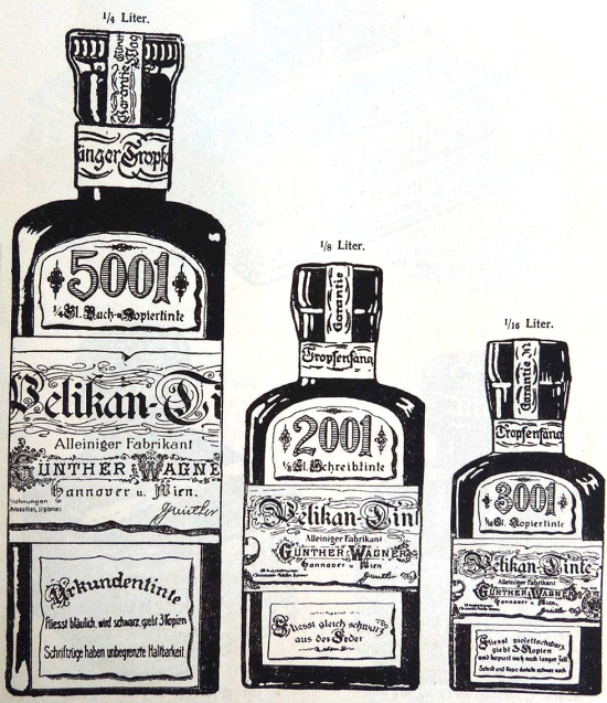 Pelikan inks from the 1930s