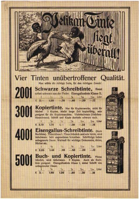 Pelikan ink advertisement from 1900