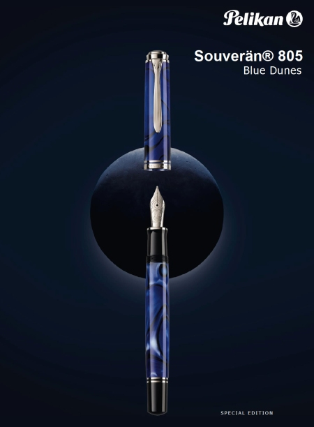 Pelikan M805 Blue Dunes Fountain Pen