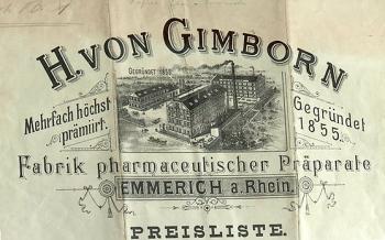 H. von Gimborn letterhead