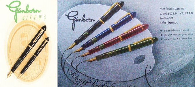 Advertisements for the Gimborn 150 Master fountain pen