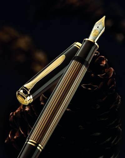 Pelikan M800 Brown Black Fountain Pen