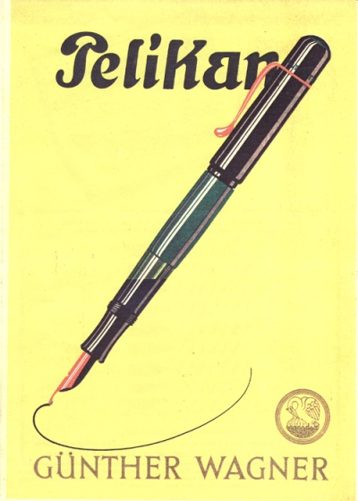 1929 Transparent Pelikan Fountain Pen Advertisement