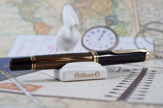 Pelikan M800 Brown-Black Fountain Pen