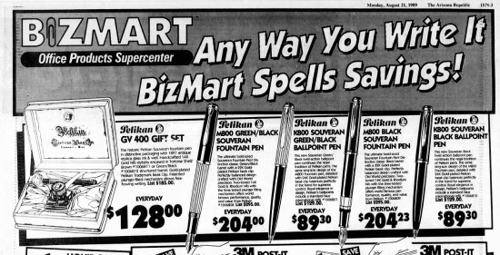 Bizmart newspaper advert circa 1989