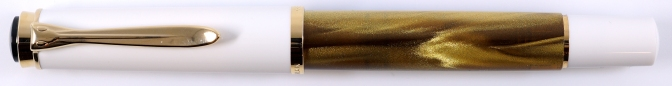 Pelikan M200 Gold Marbled Capped