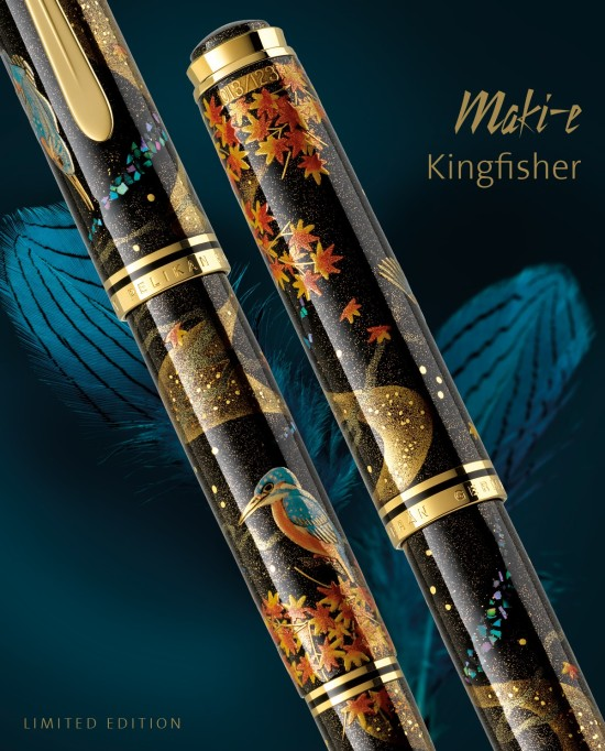 Pelikan Maki-e Kingfisher Fountain Pen