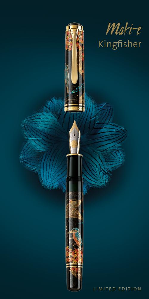 Pelikan Maki-e Kingfisher Fountain Pen