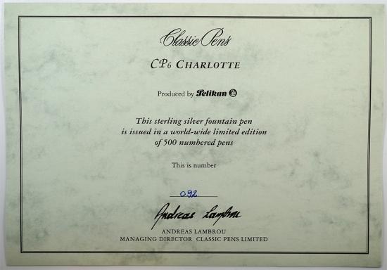 Pelikan/Classic Pens CP6 Charlotte