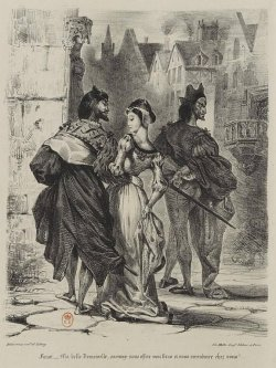 Faust by Johann Wolfgang von Goethe. Lithograph, 1827, by Eugène Delacroix