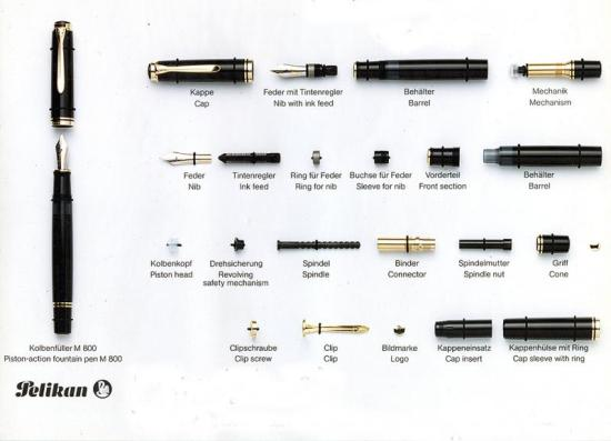 Pelikan M800 Fountain Pen Parts