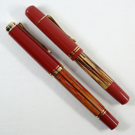 Pelikan M600 and M101N Tortoiseshell Red