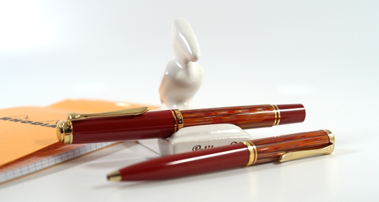 Pelikan M600 and K600 Tortoiseshell Red