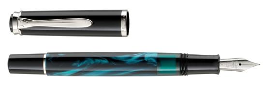 Pelikan M205 Petrol-Marbled Fountain Pen