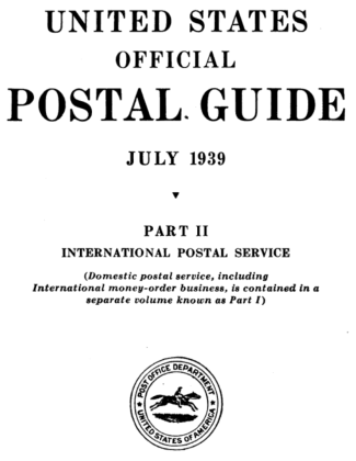 United States Official Postal Guide 1939