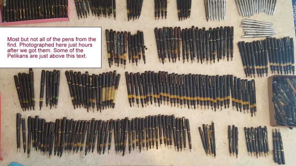 A lot of over 300 pens found in an attic in North Macedonia